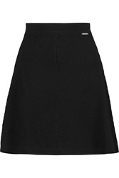 Michael Michael Kors Otto Ribbed Stretch Jersey Mini Skirt Black
