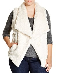 Calvin Klein Plus Faux Fur Vest Soft White