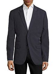 Calvin Klein Infinite Style Solid Notched Lapel Sportcoat Cadet Navy