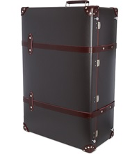 Globe Trotter Cocoa 33 Trunk Case Brown Burgundy