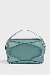 Elie Saab Radiant Leather Clutch Blue