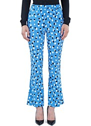 Altuzarra Ross Polka Dot Fil Coupe Flared Pants Blue