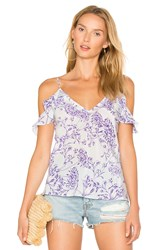 Amanda Uprichard Aliyah Top Purple