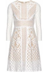 Raoul Lace Cotton Mini Dress White