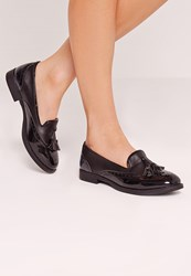 Missguided Brogue Detail Loafers Black Black