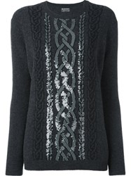 Markus Lupfer Sequined Cable Jumper Grey
