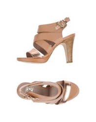 Janet And Janet Platform Sandals Skin Color