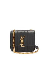 Saint Laurent Vicky Small Leather Bag Dark Green