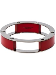 Erika Cavallini Semi Couture Multi Blocks Bracelet Red