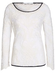 Oui Lace Top Gardenia