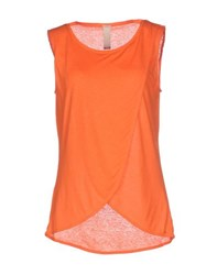 Pinko Tag Topwear T Shirts Women Orange