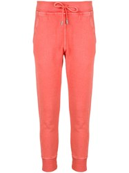 Dsquared2 Fitted Track Trousers Cotton Yellow Orange