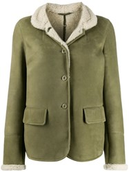 Ermanno Scervino Shearling Lining Button Jacket Green