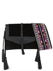 Isabel Marant Hira Nappa Leather And Suede Shoulder Bag