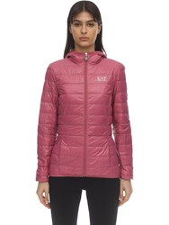 Emporio Armani Train Core Hooded Light Down Jacket Pink