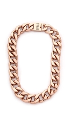 Luv Aj They Tyson Choker Necklace Antique Rose Gold