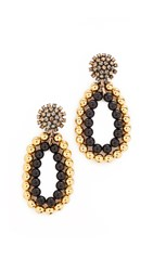 Marni Clip On Earrings With Strass Old Gold