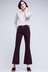 Anthropologie Mih Lou High Rise Flare Jeans Black