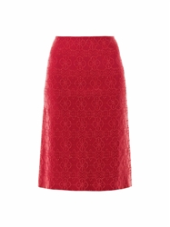 Azzedine Alaia Arabesque Metallic Embroidered Skirt