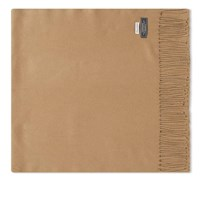 Officine Generale Italian Cashmere Scarf Brown