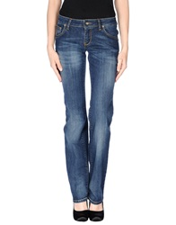 Baci And Abbracci Denim Pants Blue