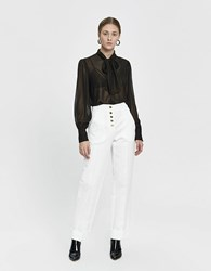 Just Female Laire Sheer Metallic Blouse Pale Gold