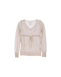 Peuterey Long Sleeve Sweaters Beige