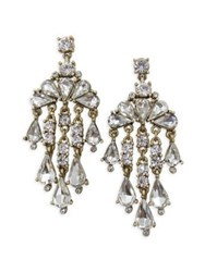 Belle By Badgley Mischka Occasion Crystal Chandelier Earrings Gold