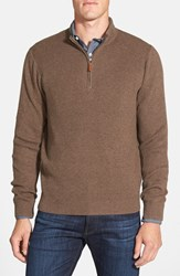 Men's Big And Tall Nordstrom Cotton And Cashmere Rib Knit Sweater Brown Bean
