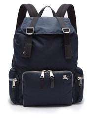Burberry Aviator Nylon Backpack Blue