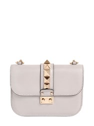 Valentino Small Lock Nappa Leather Shoulder Bag