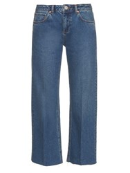 Raey Flood Low Rise Baggy Jeans Indigo