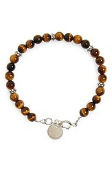 Men's Caputo And Co. 'The Horizon' Bracelet Tiger Eye