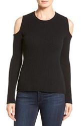 Tahari Women's Elie 'Marlah' Cold Shoulder Sweater Black