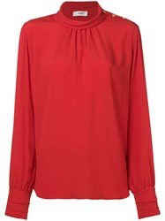 Mauro Grifoni High Neck Blouse Red
