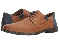 Rieker 13404 Diego 04 Toffee Royal Navy Men's Shoes Brown