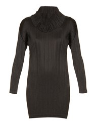 Issey Miyake Roll Neck Pleated Dress