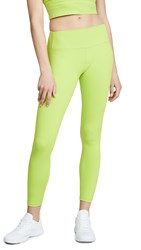 Splits59 Kinney High Waist 7 8 Leggings Neon Green