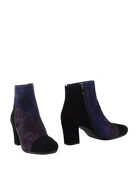 Pas De Rouge Ankle Boots Purple