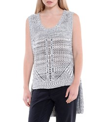 Xcvi Katniss High Low Sweater Vest Winter Ash