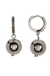 Kenneth Cole Pave Accent Ball Drop Earrings Black
