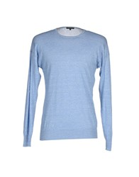 Scaglione Knitwear Jumpers Men Sky Blue