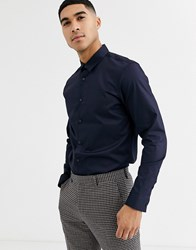 Rudie Long Sleeve Oxford Shirt Navy