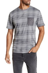 Smash Short Sleeve Plaid Tee Gray