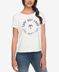 Roxy Juniors' Surf Out Loud Graphic T Shirt Marshmellow