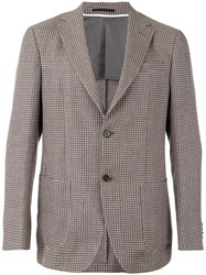 Z Zegna Single Breasted Jacket Men Silk Cotton Linen Flax 52 Brown