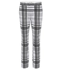 Diane Von Furstenberg Darnley Plaid Cotton Trousers Black