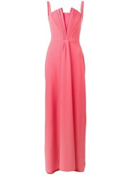 Emporio Armani Pleat Detail Evening Dress Pink