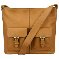 John Lewis Penny Leather Satchel Tan