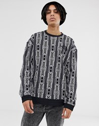 The North Face 92 Rage Fleece Crew Neck In Rage Print White